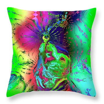Kachina's Vision Throw Pillow by Kurt Van Wagner