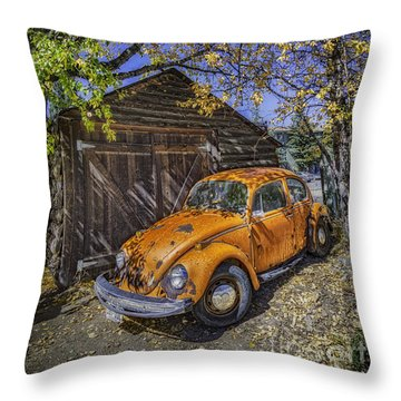 Throw Pillow featuring the photograph Kafer Beetle by Bitter Buffalo Photography
