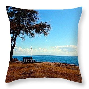 Kahe Point Beach Park Throw Pillow