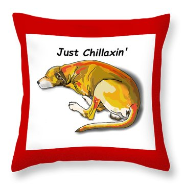 Kai Chillaxin' Throw Pillow
