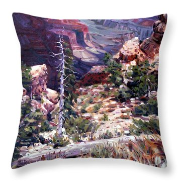 Kaibab Trail Throw Pillow by Donald Maier