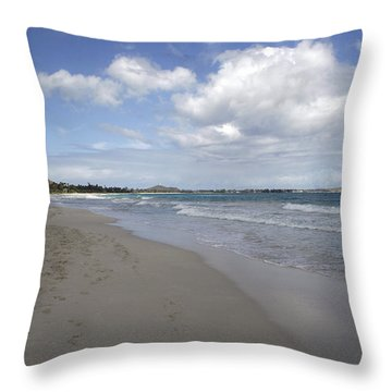 Kailua Beach, Oahu Throw Pillow