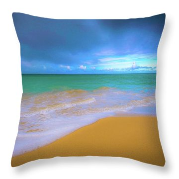 Seascape, Kailua - Lanikai, Oahu, Hawaii Throw Pillow
