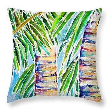 Kaimana Beach Throw Pillow by Julie Kerns Schaper - Printscapes