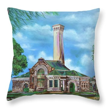 Kakaako Pumping Station Throw Pillow