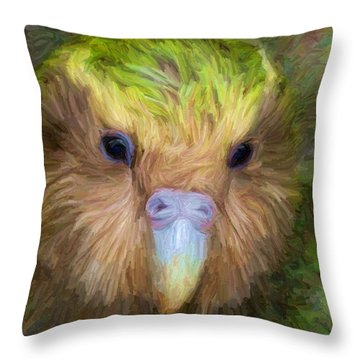 Kakapo Throw Pillow