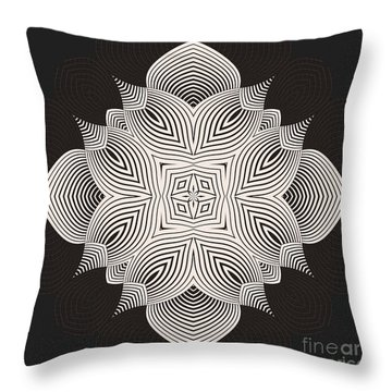 Throw Pillow featuring the digital art Kal - 71c89 by Variance Collections