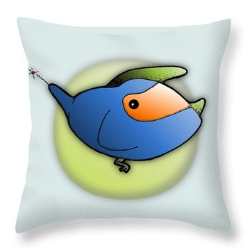 Kala Throw Pillow by Uncle J's Monsters