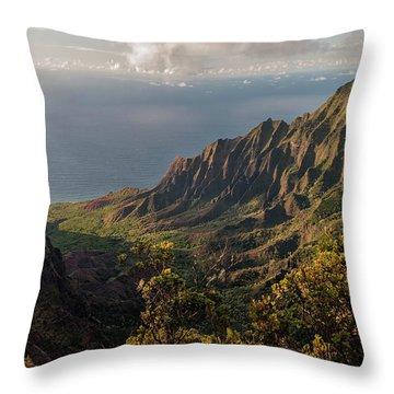Kalalau Valley 3 Throw Pillow by Brian Harig