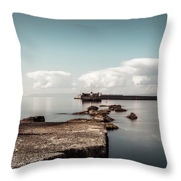 Kalamata Port / Greece Throw Pillow