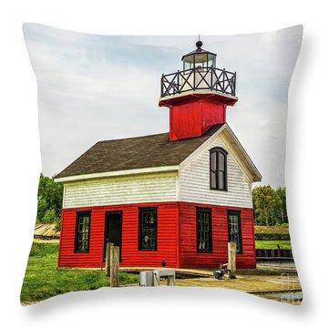 Kalamazoo Lighthouse Throw Pillow