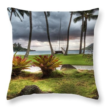 Kalapaki Beach Kauai Throw Pillow