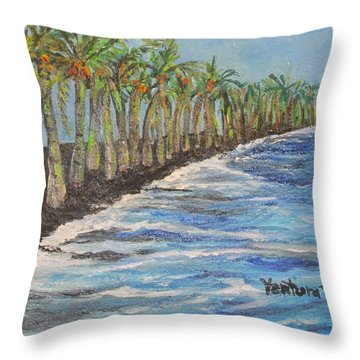 Kalapana Beach Throw Pillow