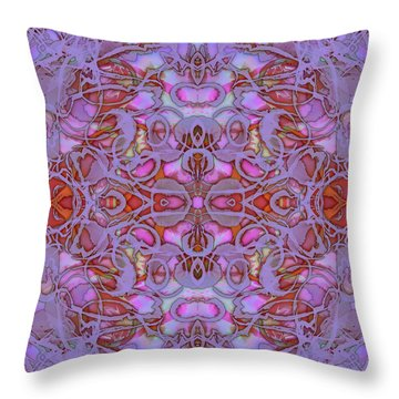 Kaleid Abstract Focus Throw Pillow