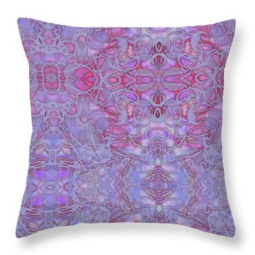 Kaleid Abstract Halo Throw Pillow