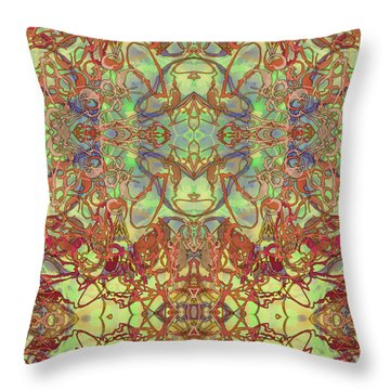Kaleid Abstract Tapestry Throw Pillow