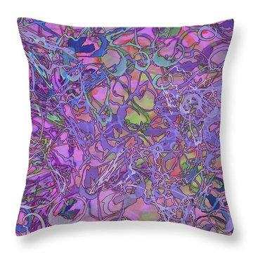 Kaleid Abstract Trip Throw Pillow