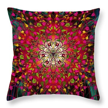 Kaleidoflower#7 Throw Pillow