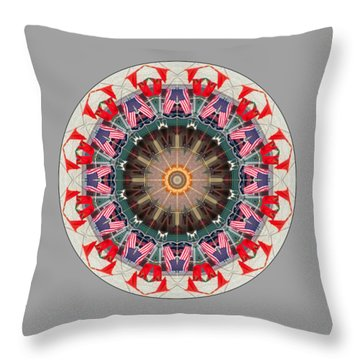 Kaleidos - Ptown07 Throw Pillow