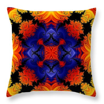 Throw Pillow featuring the digital art Kaleidoscope 1 by Charmaine Zoe