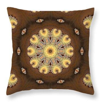 Kaleidoscope 125 Throw Pillow by Ron Bissett