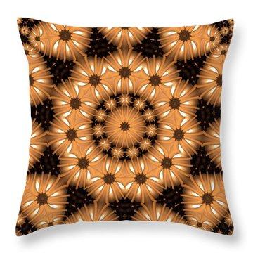 Kaleidoscope 131 Throw Pillow by Ron Bissett