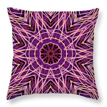 Kaleidoscope 147 Throw Pillow