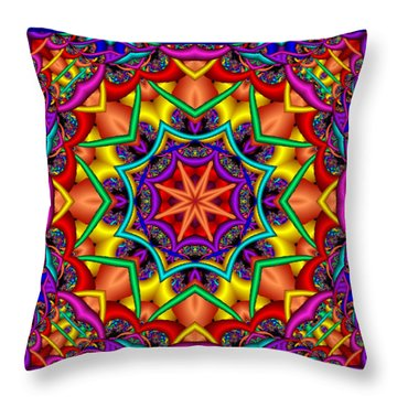 Throw Pillow featuring the digital art Kaleidoscope 2 by Charmaine Zoe
