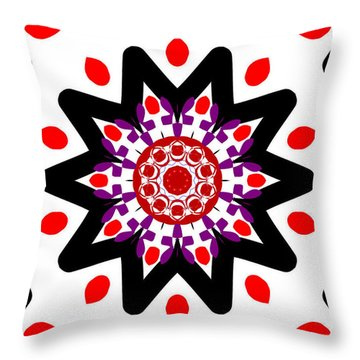 'alien Head' Kaleidoscope Throw Pillow
