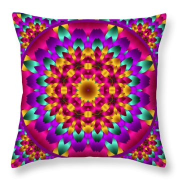 Throw Pillow featuring the digital art Kaleidoscope 3 by Charmaine Zoe