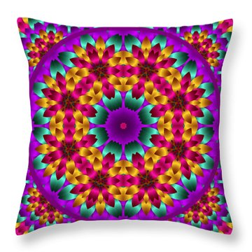 Throw Pillow featuring the digital art Kaleidoscope 4 by Charmaine Zoe
