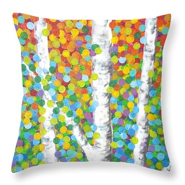 Kaleidoscope Canopy Throw Pillow by Sandra Lett