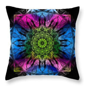 Kaleidoscope - Colorful Throw Pillow