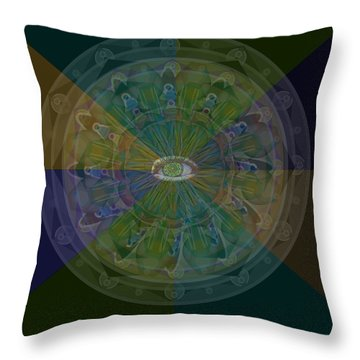 Kaleidoscope Eye Throw Pillow