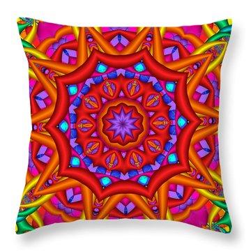 Kaleidoscope Flower 02 Throw Pillow