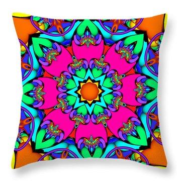 Kaleidoscope Flower 03 Throw Pillow