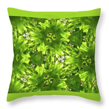 Kaleidoscope Flower Throw Pillow by Julia Wilcox