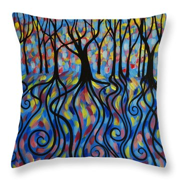 Kaleidoscope Forest Throw Pillow