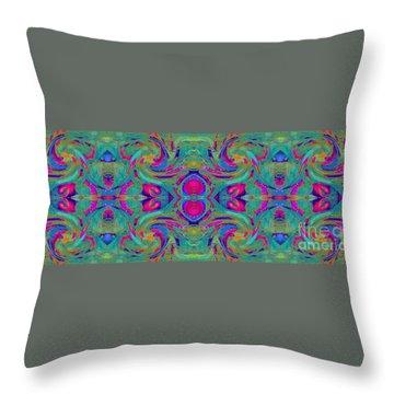 Kaleidoscope Heart Throw Pillow