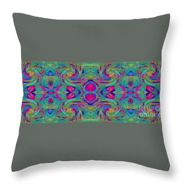 Kaleidoscope Heart Throw Pillow by Expressionistart studio Priscilla Batzell