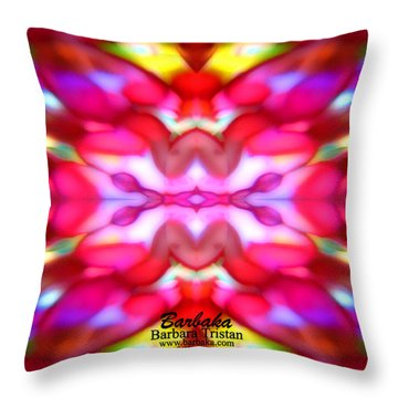 Throw Pillow featuring the photograph Kaleidoscope Wonder by Barbara Tristan