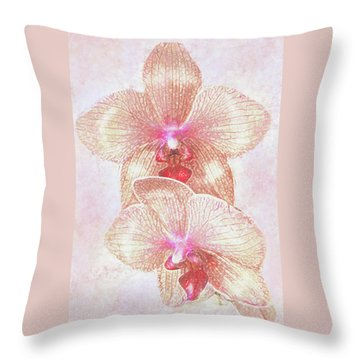 Throw Pillow featuring the digital art Kaleidoscope Orchid  by Jane Schnetlage