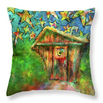 Throw Pillow featuring the painting Kaleidoscope Skies by Claire Bull