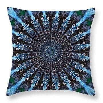Kaleidoscope Water Swirl Throw Pillow by Suzanne Handel