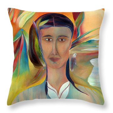 Throw Pillow featuring the painting Kalf by Linda Cull
