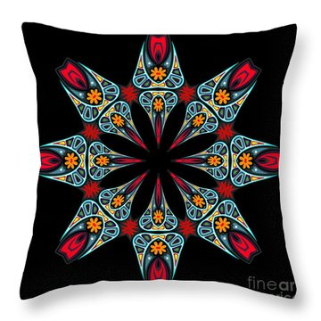 Throw Pillow featuring the digital art Kali Kato - 06a by Aimelle