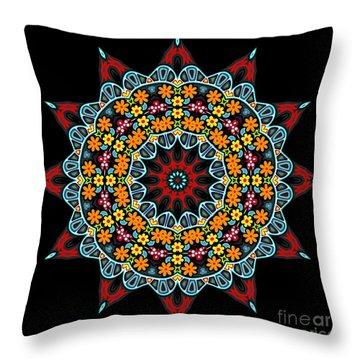 Throw Pillow featuring the digital art Kali Kato - 12 by Aimelle