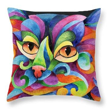Kalidocat Throw Pillow by Sherry Shipley