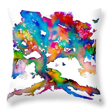 Da186 Kelly's Tree    Daniel Adams Throw Pillow