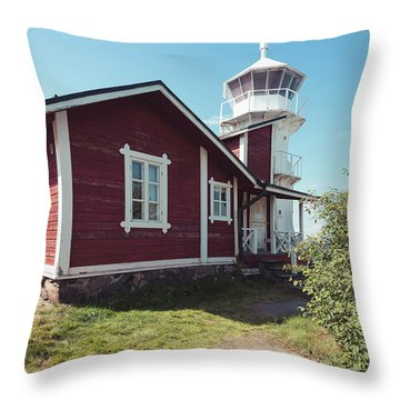 Throw Pillow featuring the photograph Kallo Lighthouse by Ari Salmela